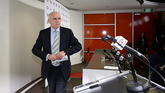 Paul Little prepares to speak to the media as the supplements crisis unfolded.