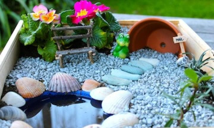 Make a fairy garden Kidspot