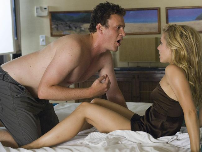 Jason Segel got his gear off in front of Kristen Bell in Forgetting Sarah Marshall.