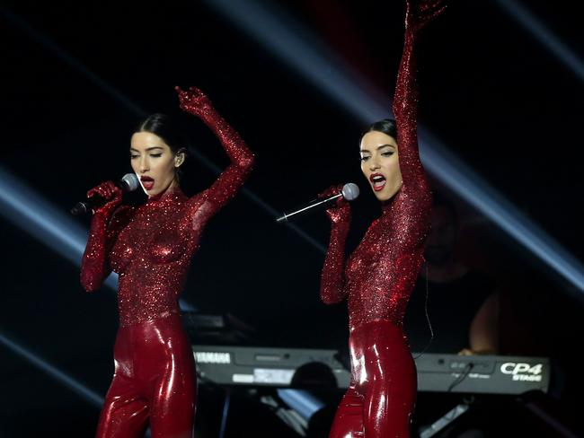 The Veronicas perform on stage during the 30th Annual ARIA Awards 2016. Picture: Getty
