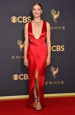 Yvonne Strahovski attends the 69th Annual Primetime Emmy Awards at Microsoft Theater on September 17, 2017 in Los Angeles. Picture: Getty