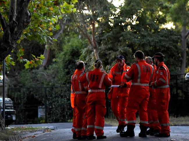 SES begin a search for Ms Hollingworth. Picture: Nicole Garmston