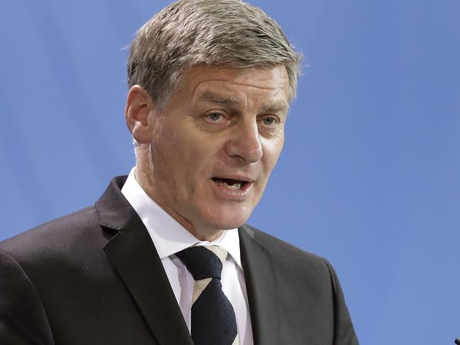 """New Zealand's Prime Minister Bill English said a US-NZ pact would be """"challenging."""" Picture: AP/Michael Sohn"""