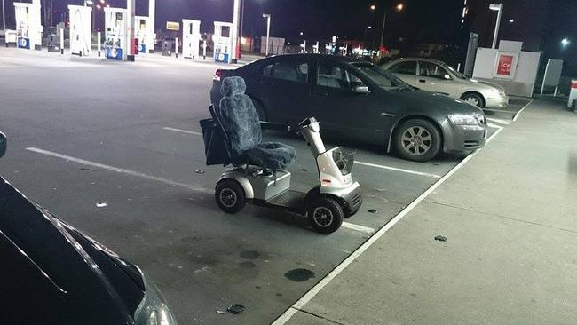 10. Clearly they didn't want to get this scooter dented. Picture: Facebook