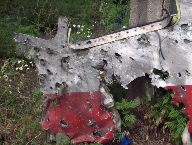 Stills taken from the Dutch Safety Board's investigation into the downing of Malaysian Airlines flight MH17 which was shot down as it flew over Ukraine.