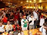 Clapping and cheers at Adelaide's German Club as Germany claims the World Cup Final. Picture: Simon Cross