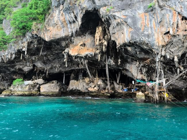 Bird nest cave, Phuket, Thailand.