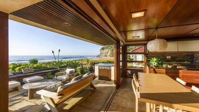Beach for breakfast: The open kitchen and dining area at Bilgola. Supplied by Foxtel