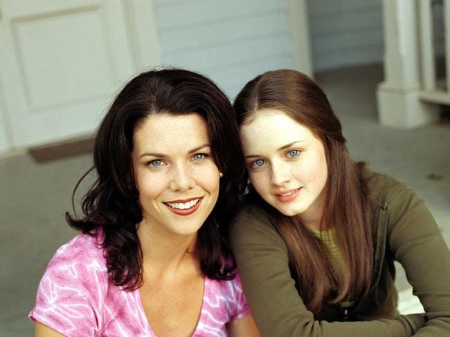 That was then ... Actor Lauren Graham (l) with Alexis Bledel in scene from TV program |Gilmore Girls|.