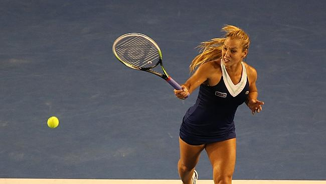 Dominika Cibulkova put up a strong fight in the first set.