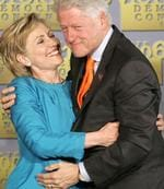 <p>Former US president Bill Clinton (pictured with wife Hillary) is famous for his extra-marital affairs.</p>