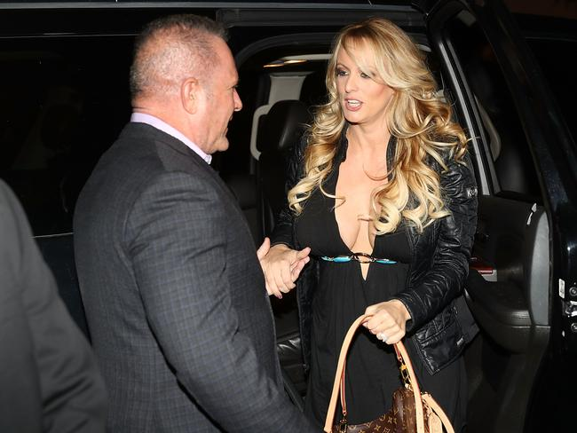 Stormy Daniels arrives at the Solid Gold Fort Lauderdale strip club in Pompano Beach, Florida. Picture: Michael Cohen / AFP / Getty