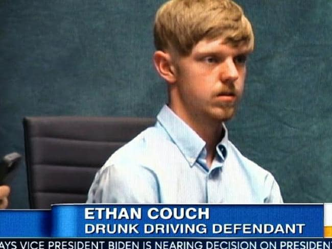 Ethan Couch in court. Picture: ABC News