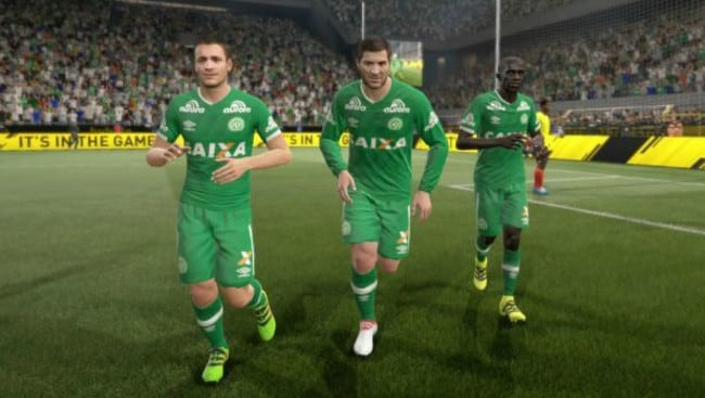 FIFA 17 tribute to Chapecoense.