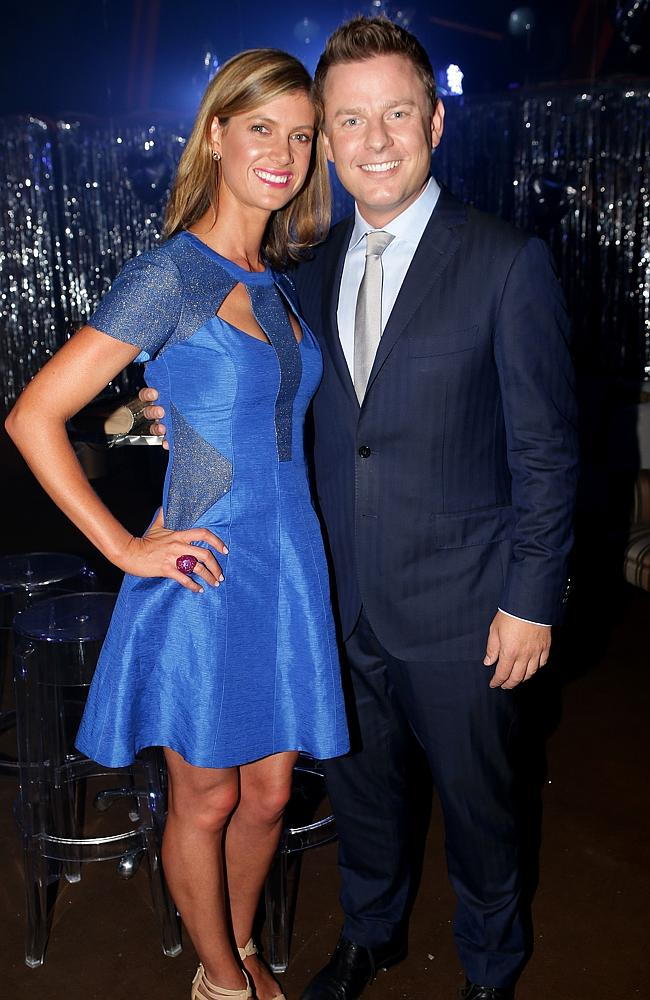Ben Fordham with wife Jodie Speers. Picture: Stephen Cooper