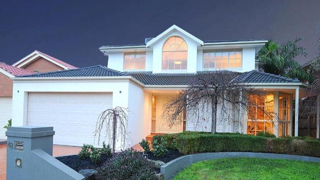 The five-bedroom house at 48 Wakley Cres, Wantirna South, sold at auction for $1.1 million.