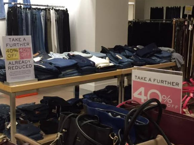 Some items from Myer's Frankston clearance store. Picture: Facebook