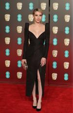 US actress Emma Roberts poses on the red carpet upon arrival at the BAFTA British Academy Film Awards at the Royal Albert Hall in London on February 18, 2018. Picture: AFP PHOTO / Daniel LEAL-OLIVAS