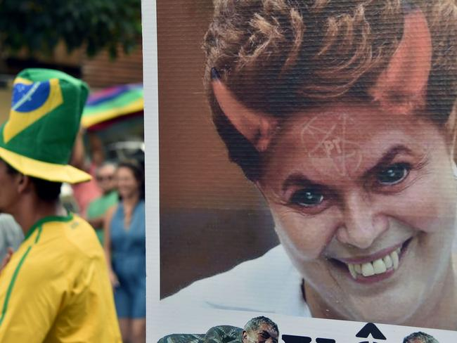 Rousseff, Brazil's first female president, risks being driven from office. Picture: AFP/NELSON ALMEIDA