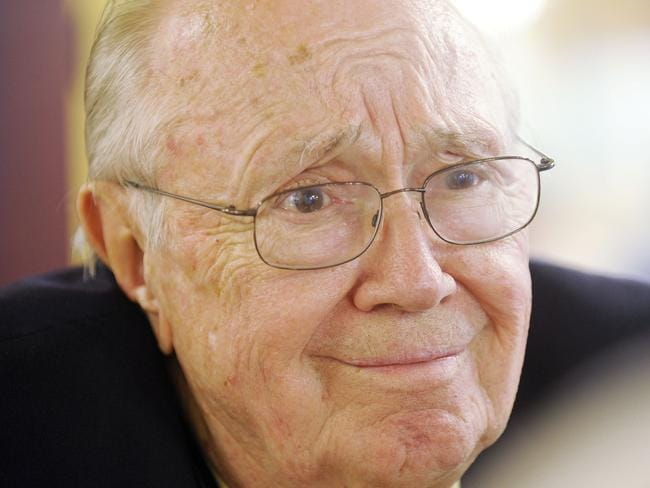 "Theodore ""Dutch'' Van Kirk pictured in a 2009 file photo was the navigator for the Enola Gay and died last week. Pic: AP/The Macon Telegraph, Beau Cabell, File."