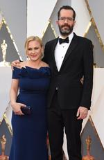 Patricia Arquette and Eric White attend the 88th Annual Academy Awards on February 28, 2016 in Hollywood, California. Picture: AFP