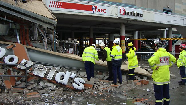 westfield eastgarden after yesterdays carpark collapse picture botany bay council