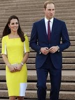 Prince William and Duchess Kate visit the Sydney Opera House on their first day in Australia. Picture: Toby Zerna