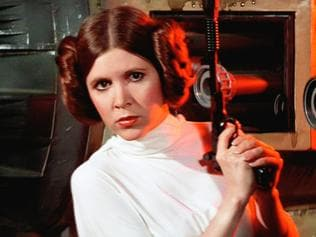 Carrie Fisher as Princess Leia in the Star Wars movies. Picture: Supplied