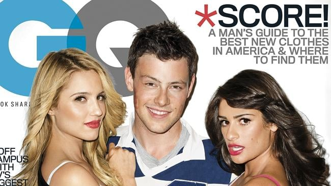"Dianna Agron, Cory Monteith, and Lea Michele, from the TV series ""Glee,"" are shown on the cover the November 2010 issue of ""GQ"" magazine, on sale on Oct. 26. Many say the ""Glee"" stars went too far in a series of racy photos in the magazine's November issue. Picture: AP"