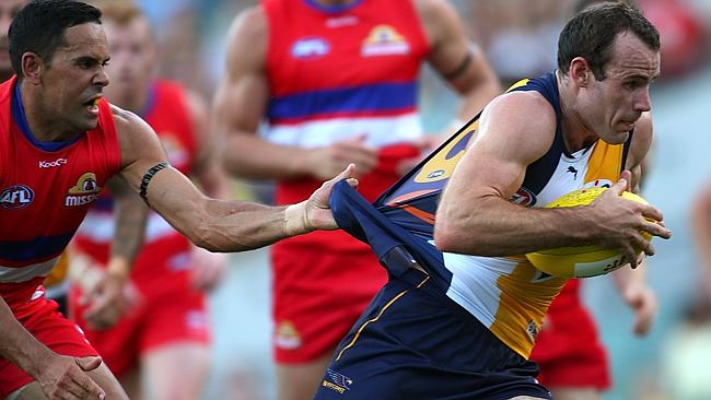 Shannon Hurn, injured for much of the second half of last year, was back to his powerful, bustling best. Picture: Paul Kane/Getty Images