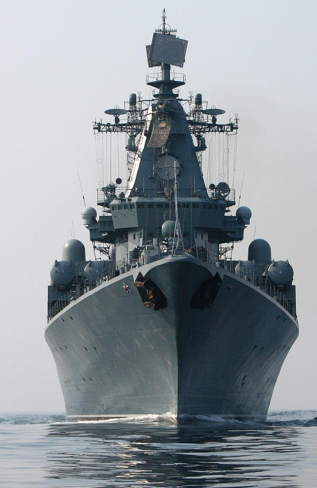 "Russia's flagship vessel, The Varyag, is leading the four-strong ""show of strength"" bound for the Queensland coast."