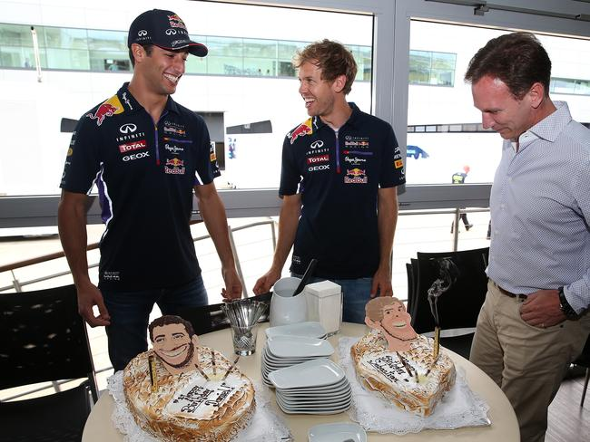 Ricciardo and Vettel celebrated their birthdays ahead of the British GP.