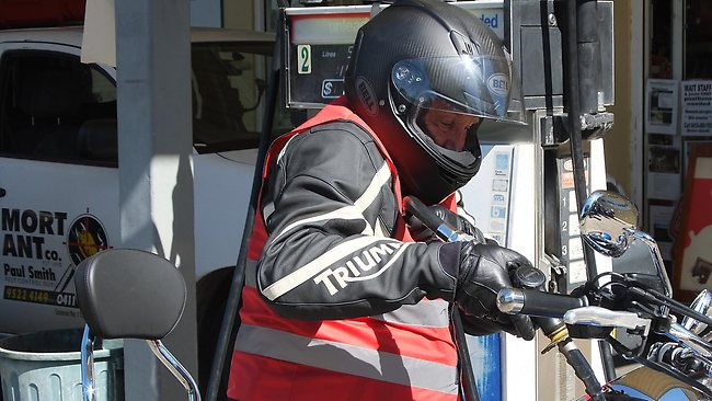 Tim Mathieson, the Prime Minister's partner, who crashed his motorcycle today on a charity ride. Picture: Malcolm Farr