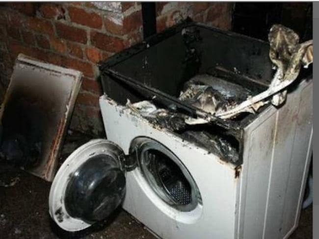Cathy Van Der Steen posted this picture after her washing machine not only failed but exploded. Picture: Choice.