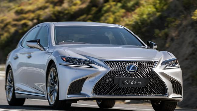 In your face: Lexus's LS is hard to miss on the road. Pic: Supplied.