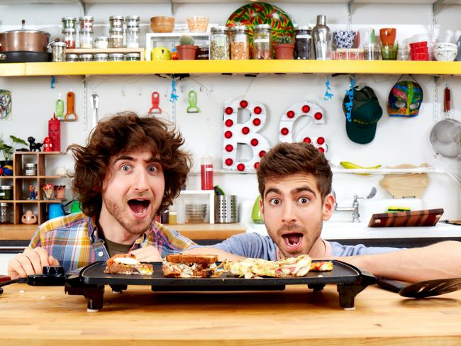 Kitchen charisma ... brothers Josh and Mike Greenfield bring their infectious enthusiasm for cooking to their MTV series.