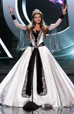 Janet Kerdikoshvili, Miss Georgia 2015 debuts her National Costume on stage at the 2015 Miss Universe Pagaent on December 16, 2015 in Las Vegas. Picture: HO/The Miss Universe Organization