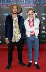 Jagwar Ma arrives at the 31st ARIA Awards at The Star, in Sydney, Tuesday, November 28, 2017. Picture: AAP Image/Dan Himbrechts