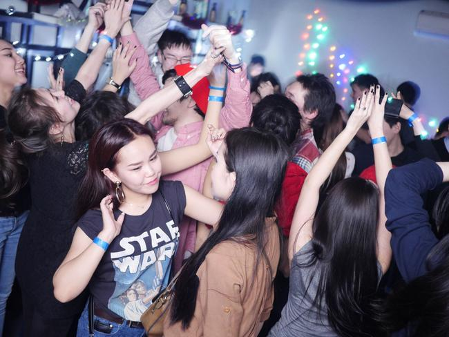 Young Yakutians let loose in a well-heated nightclub.