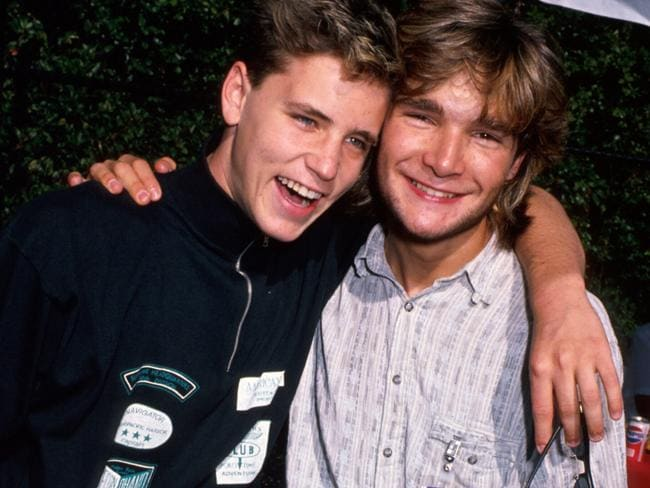1980s teen idols Corey Haim (left) and Corey Feldman were allegedly targeted by a Hollywood paedophile ring. Picture: Time Life Pictures/DMI/The LIFE Picture Collection/Getty Images