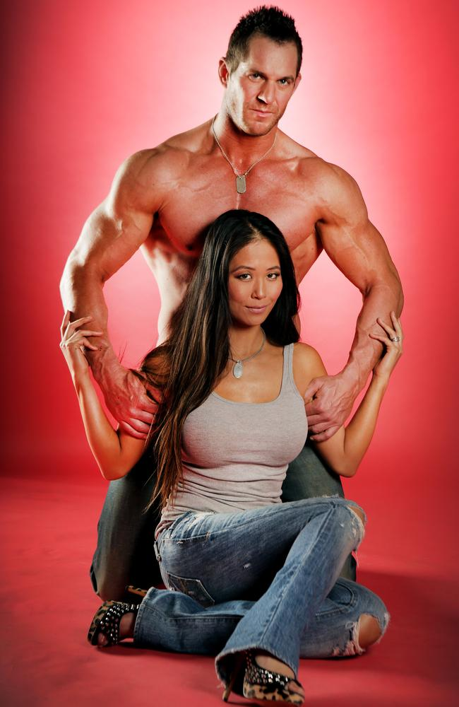 Healthy ... Amazing Race contestants Tyson and Sally share a passion for fitness.