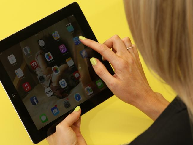 Stocked up .. the government has iPads waiting to be used. Picture: News Corp Australia