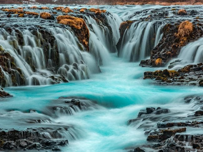 It is no wonder Bruarfoss Waterfall has become a sudden tourist attraction. But tourists are destroying it. Picture: istock