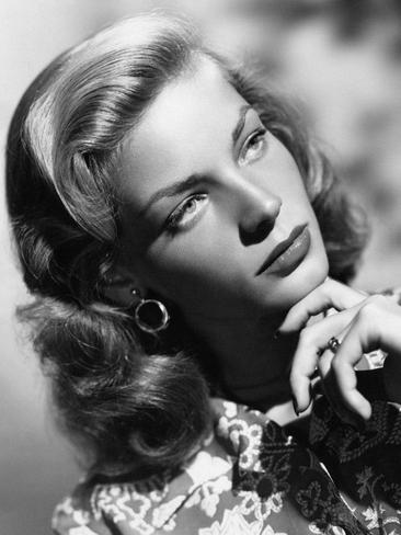 American actress Lauren Bacall (Betty Jane Perske) posing with her hand under her chin. 1940s. Picture: Getty