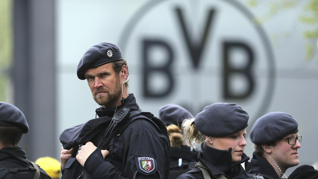 Police say the motivation of the alleged Borussia Dortmund bus bomber was financial greed not terror. Picture: AP