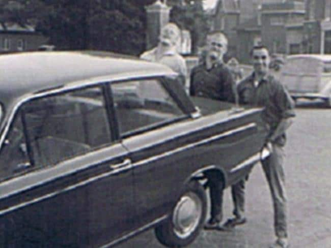Having fun ... John McSorley (left). Reg Spiers (centre) and a friend in Twickenham in 1964. Picture: outoftheboxstory.com