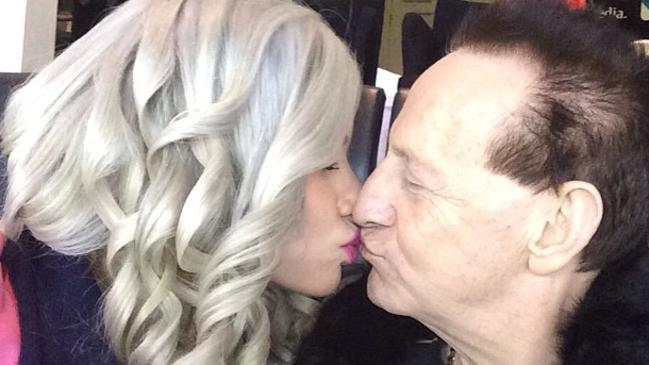 Geoffrey Edelsten and Gabi Grecko kissing. Source: Gabi Grecko/Pinterest
