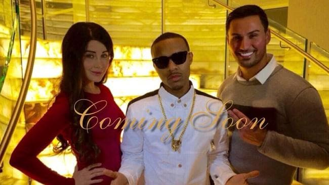 Mehajer posed in front of the staircase with rapper Bow Wow, and his estranged wife Aysha.