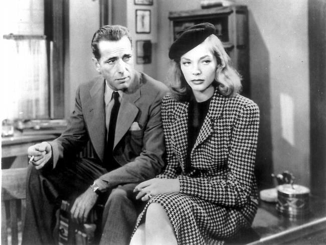 Humprey Bogart and Lauren Bacall in 1946 film 'The Big Sleep'. Picture: Supplied
