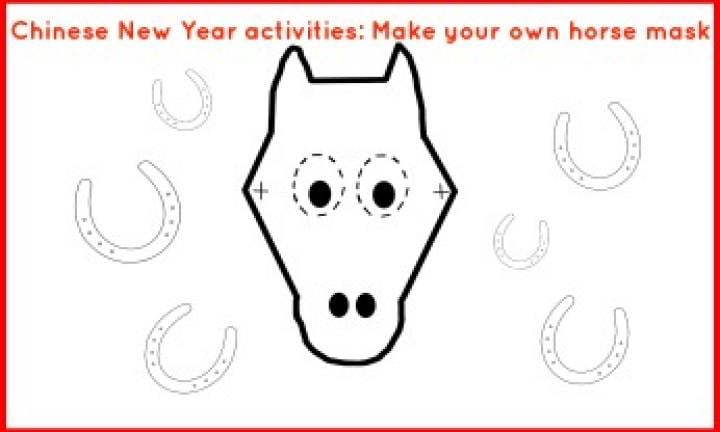 Chinese New Year activities: make your own horse mask